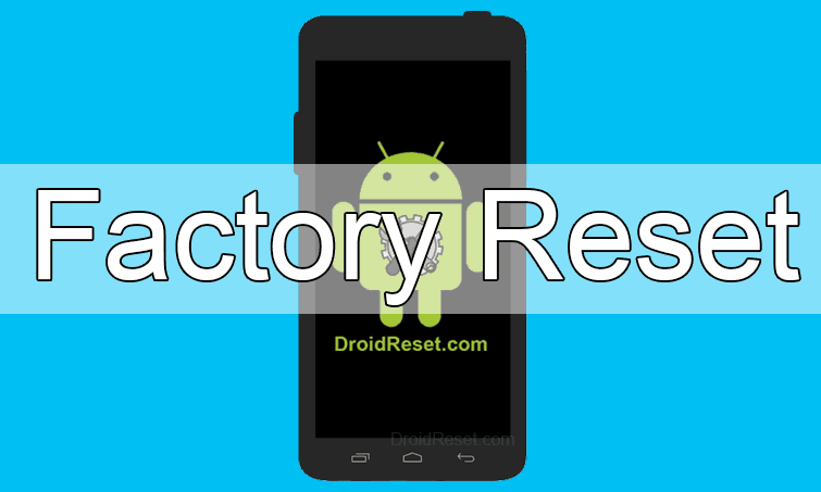 Alcatel OT-720 Factory Reset